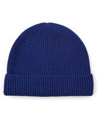 Barneys New York - Rib-knit Wool-cashmere Beanie - Lyst