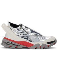 CALVIN KLEIN 205W39NYC Cander Specchio Leather Sneakers - Metallic