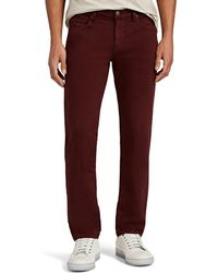 J Brand Kane Straight Jeans - Red