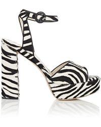 Barneys New York - Calf Hair Platform Sandals Size 8 - Lyst