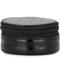 Barneys New York - Small Crocodile-stamped Leather Travel Case - Lyst