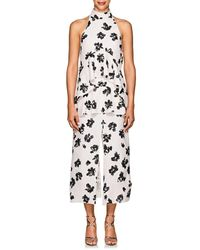 Proenza Schouler - Floral Jacquard Tiered Midi - Lyst