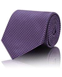 Cifonelli - Mini-houndstooth Silk Necktie - Lyst