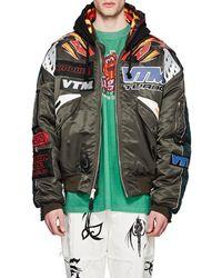 Vetements - Reversible Motocross Oversized Hooded Bomber Jacket - Lyst