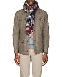 Barneys New York - Plaid Cashmere-silk Scarf - Lyst