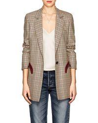 Blazé Milano - Timeless Checked Wool Blazer Size 4 - Lyst