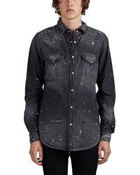 Amiri Paint-splatter Denim Western Shirt - Black