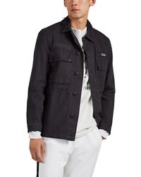 Ksubi Noel Distressed Cotton Safari Jacket - Black
