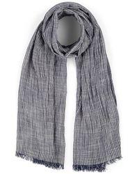 Barneys New York Striped Cotton-blend Scarf - Multicolor