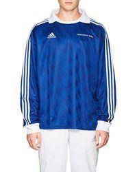 Gosha Rubchinskiy Striped Jacquard-knit Jersey - Blue