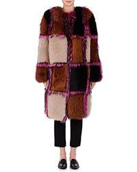 OSMAN - Amanon Plaid Fur Coat - Lyst