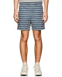 RRL - Striped Cotton Shorts - Lyst