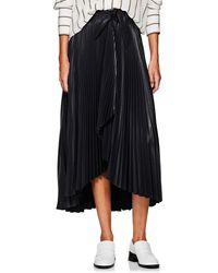 A.L.C. Eleanor Pleated Wrap Skirt - Blue