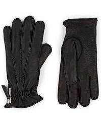 Want Les Essentiels De La Vie Chopin Side-zip Leather Gloves - Black