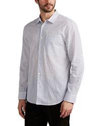 John Varvatos - Checked Cotton-blend Shirt - Lyst
