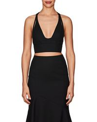 Narciso Rodriguez - Virgin Wool Twill Bra Top - Lyst