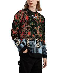 JW Anderson Jacquard Wool-blend Sweater - Black