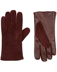 Barneys New York - Tech-smart Suede Gloves - Lyst