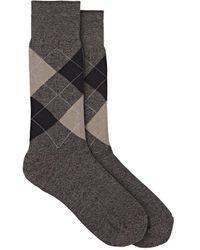 Barneys New York - Argyle Cotton-blend Mid-calf Socks - Lyst