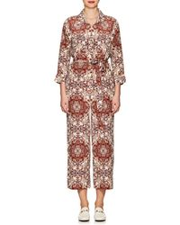 L'Agence - Delia Silk Belted Jumpsuit - Lyst