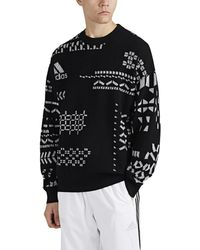 Gosha Rubchinskiy Logo-knit Wool-blend Sweater - Black