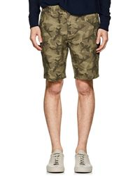 Barneys New York - Camouflage Cotton Twill Shorts - Lyst