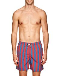 Solid & Striped The Classic Striped Swim Trunks - Blue
