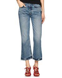 GRLFRND - Linda Straight Crop Jeans - Lyst