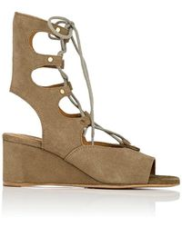 Chloé - Foster Suede Wedge Gladiator Sandals - Lyst