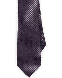 Paolo Albizzati Pin-dot Silk Necktie - Blue