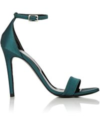 Barneys New York Satin Ankle-strap Sandals - Blue