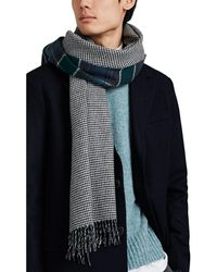 Drake's Double-faced Wool-cashmere Scarf - Blue