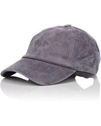 Barneys New York Suede Baseball Cap - Gray