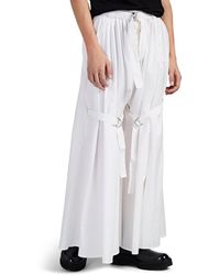 Hood By Air Belted Wide-leg Cotton-blend Freedom Trousers - White