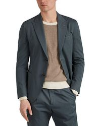 Eleventy Cotton Twill Two-button Sportcoat - Green