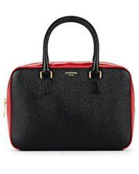 Thom Browne Jr Leather Business Bag - Black