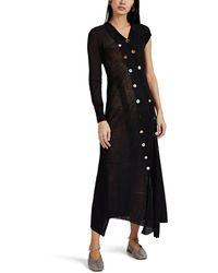 JW Anderson Button-detailed Asymmetric Sweaterdress - Black