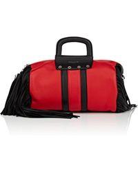 Sonia Rykiel Gym Small Fringed Leather Duffel Bag - Red