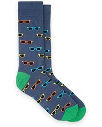 Barneys New York - Sunglasses-motif Cotton-blend Mid-calf Socks - Lyst