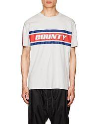 Marcelo Burlon - Logo Cotton Jersey T-shirt - Lyst