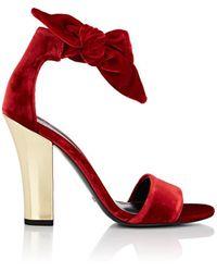 decae445563a Stella Luna - Velvet Ankle-tie Sandals - Lyst