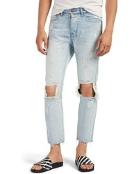 Ksubi Chitch Chop Distressed Slim Jeans - Blue