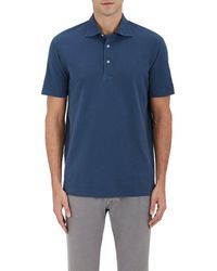 Barneys New York - Cotton Piqué Polo Shirt - Lyst