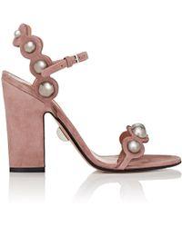 Samuele Failli Lauren Suede Sandals - Pink