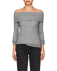 Lilla P - Mélange Cotton-blend Off-the-shoulder Top - Lyst
