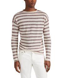 Eidos Striped Linen-blend Crewneck Sweater - Multicolor