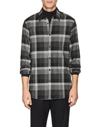 Theory - Menlo Checked Flannel Shirt - Lyst