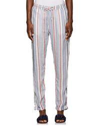 Onia - Ella Striped Drawstring Trousers - Lyst