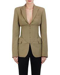 Stella McCartney | Piqué Corset Jacket | Lyst