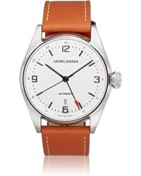 Georg Jensen - Delta Classic Gmt Watch - Lyst